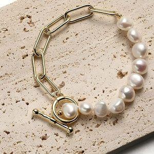 Pearl 14K Gold Bracelet Dual New